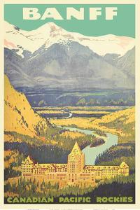 Banff, Canada - Rockies - Canadian Pacific Railway by Pacifica Island Art