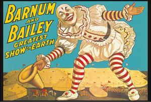 Barnum & Bailey Circus - Greatest Show on Earth - Clown Standing over Tents by Pacifica Island Art