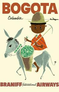 Bogota, Columbia - Braniff International Airways - Andes Boy with Colombian Emeralds by Pacifica Island Art