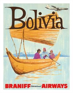 Bolivia - Braniff International Airways by Pacifica Island Art