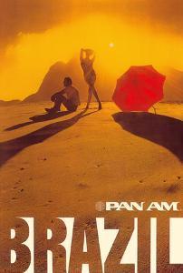 Brazil - Pan American World Airways by Pacifica Island Art