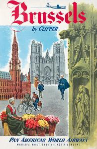 Brussels, Belgium by Clipper - Pan American World Airways (PAA) by Pacifica Island Art