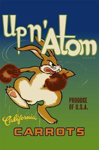 California Carrots - Up n' Atom Brand by Pacifica Island Art