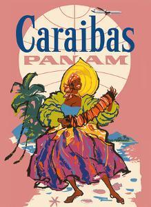 Caribbean (Caraibas) - Pan American World Airways by Pacifica Island Art