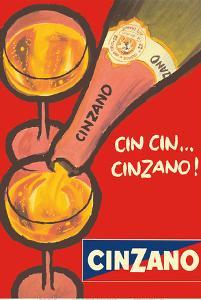 Cin Cin Cinzano - Asti Spumante - Italian Sparkling Wine by Pacifica Island Art