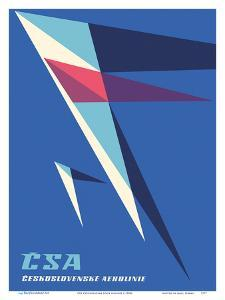 CSA Czechoslovak State Airlines by Pacifica Island Art