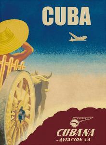 Cuba - Cubana de Aviación S.A. - Cubana Airlines by Pacifica Island Art