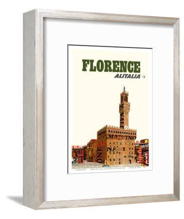 Florence, Italy - Alitalia Airlines - Palazzo Vecchio (The Old Palace)