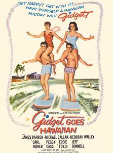 Gidget Goes Hawaiian - Starring Deborah Walley, James Darren by Pacifica Island Art
