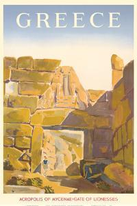 Greece - Acropolis of Mycenae - Gate of Lionesses by Pacifica Island Art