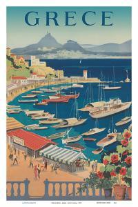 Greece (Grece) - Athens - Bay of Castella by Pacifica Island Art