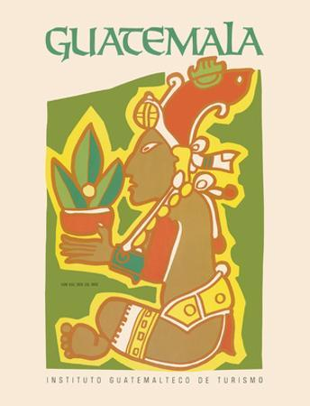 Guatemala - Yum Kax, Dios Del Maiz (Lord of the Forest) - Mayan God of Wild Plants and Animals
