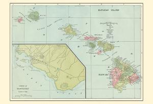 Hawaiian Islands - Sandwich Islands - Harbor of Honolulu by Pacifica Island Art