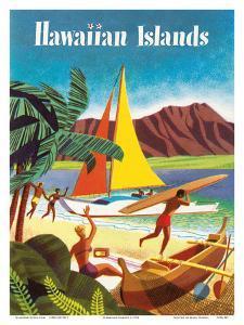 Hawaiian Islands by Pacifica Island Art