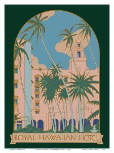 Honolulu, Hawaii - Royal Hawaiian Hotel by Pacifica Island Art