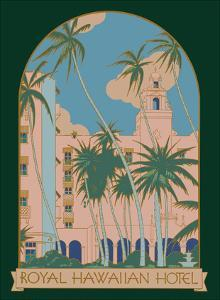 Honolulu, Hawaii - Royal Hawaiian Hotel by Pacifica Island Art