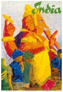 India - Ganesha Chaturthi Hindu Festival by Pacifica Island Art