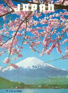 Japan - Mount Fiji in Spring - Cherry Tree Blossoms by Pacifica Island Art