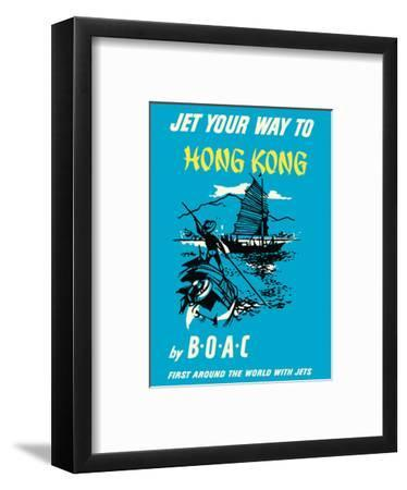 Jet Your Way to Hong Kong - by BOAC (British Overseas Airways Corporation) by Pacifica Island Art