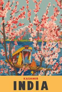 Kashmir India - Dal Lake - Almond Blossoms by Pacifica Island Art