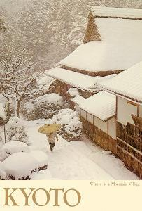 Kyoto Japan - Winter in a Mountain Village by Pacifica Island Art