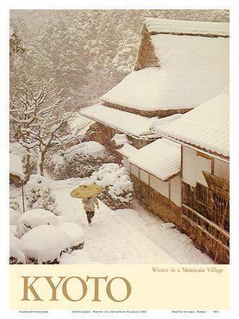 Kyoto Japan - Winter in a Mountain Village