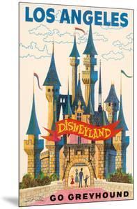 Los Angeles, USA - Disneyland - Go Greyhound (Greyhound Bus Lines) California by Pacifica Island Art