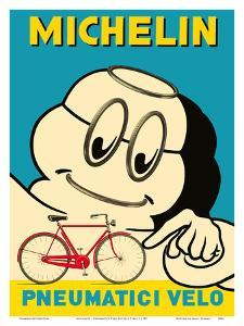 Michelin - Pneumatici Velo Bicycle Tires - Michelin Man by Pacifica Island Art