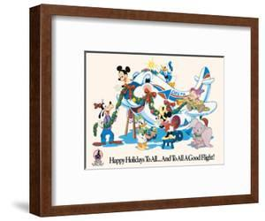 Mickey Mouse and Disney Characters - Happy Holidays to All - Delta Air Lines by Pacifica Island Art