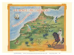 Morocco (Maroc) - National Bank for Trade and Industry BNCI - Africa (Afrique) by Pacifica Island Art