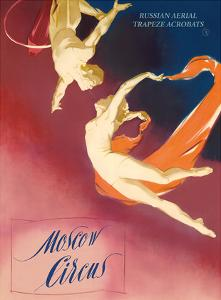 Moscow Circus - Russian Aerial Trapeze Acrobats by Pacifica Island Art