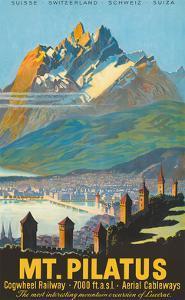 Mt. Pilatus - Lucerne, Switzerland - Cogwheel Railway by Pacifica Island Art