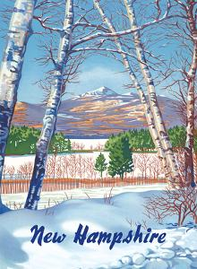 New Hampshire - Presidential Range, White Mountains by Pacifica Island Art