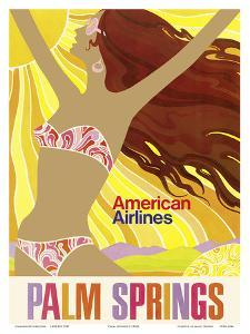 Palm Springs - California Girl - American Airlines by Pacifica Island Art