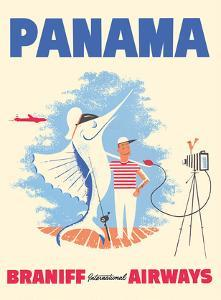 Panama - Braniff International Airways - Big Game Fishing by Pacifica Island Art