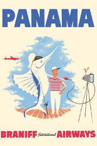 Panama - Braniff International Airways - Big Game Fishing by Pacifica Island Art