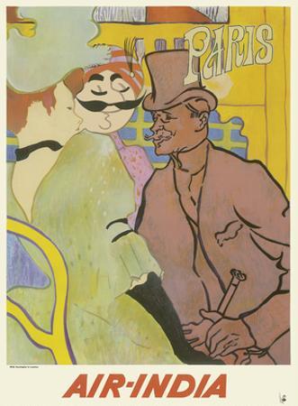 Paris, France - Maharaja in The Englishman at Moulin Rouge - Air India International