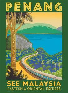 Penang, Malaysia - Eastern & Oriental Express by Pacifica Island Art