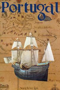 Portugal - Portuguese Caravel Ship by Pacifica Island Art