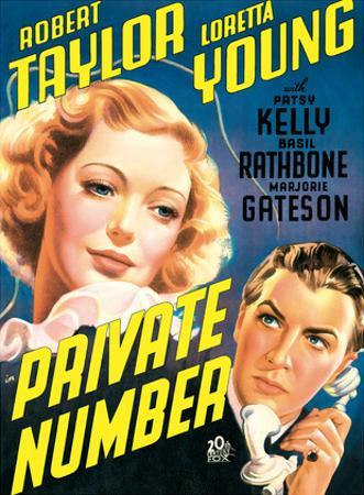 Private Number - starring Loretta Young and Robert Taylor by Pacifica Island Art