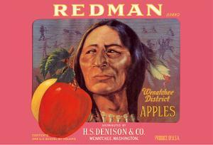 Redman Apples - Wenatchee District, Washington - H.S. Denison & Company by Pacifica Island Art