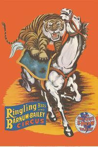 Ringling Bros and Barnum & Bailey Circus - Tiger On Horse by Pacifica Island Art