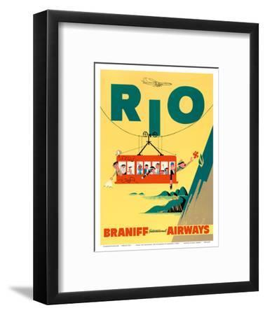 Rio de Janeiro, Brazil - Cable Car to Sugar Loaf Mountain - Braniff International Airways