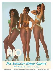 Rio De Janeiro, Brazil - Oba-Oba (Oh Boy! Oh Boy!) Dancers by Pacifica Island Art
