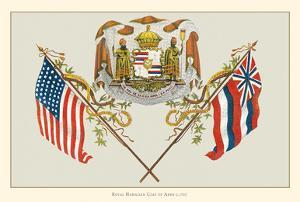Royal Hawaiian Coat of Arms - Hawaii State Motto by Pacifica Island Art