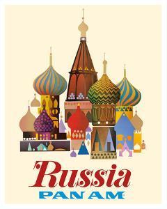 Russia - Pan American World Airways - Saint Basil's Cathedral, Moscow - Onion Domes by Pacifica Island Art