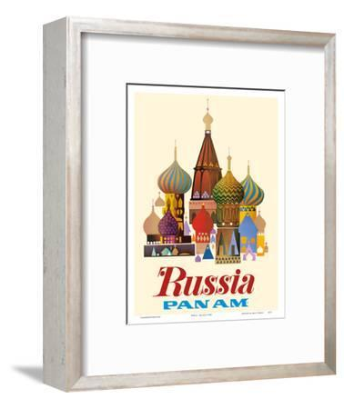 Russia - Pan American World Airways - Saint Basil's Cathedral, Moscow - Onion Domes