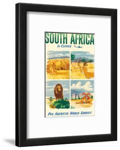 South Africa by Clipper - Pan American World Airways by Pacifica Island Art