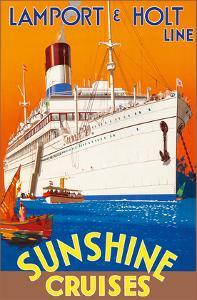Sunshine Cruises - Lamport & Holt Line by Pacifica Island Art