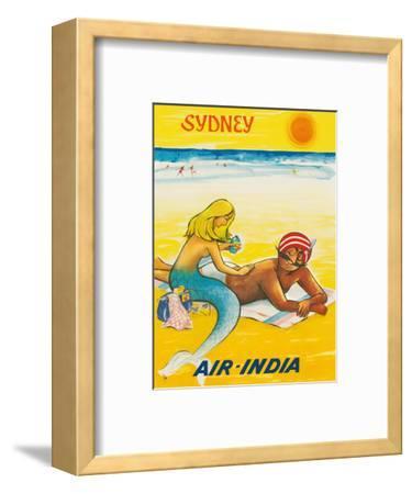 Sydney, Australia - Sun Tanning Mermaid with The Maharaja
